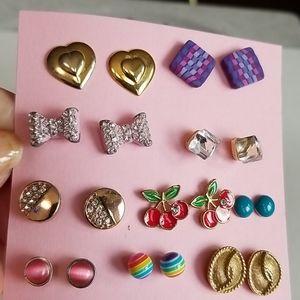 10 pairs post earrings